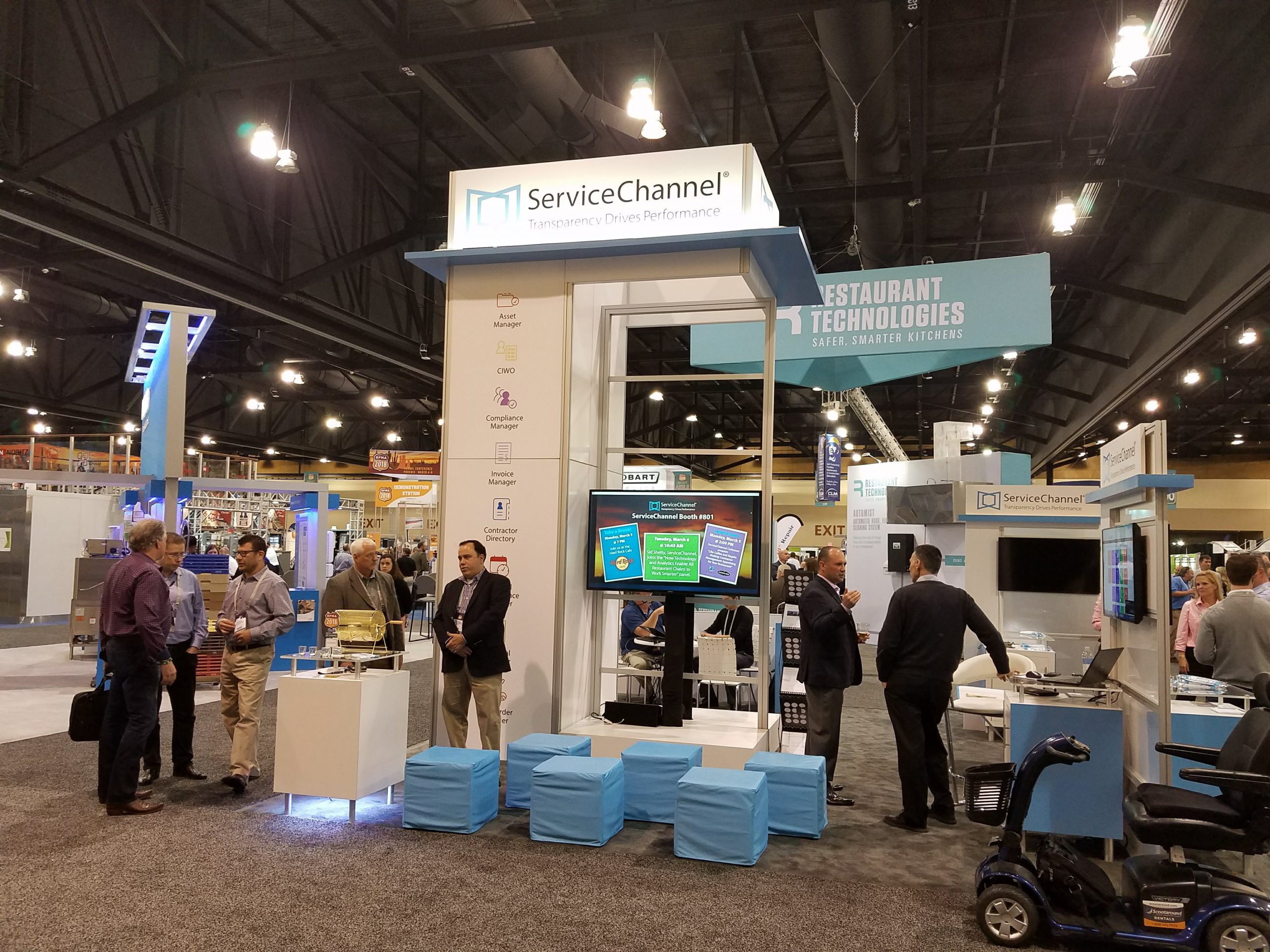 ServiceChannel Booth at RFMA