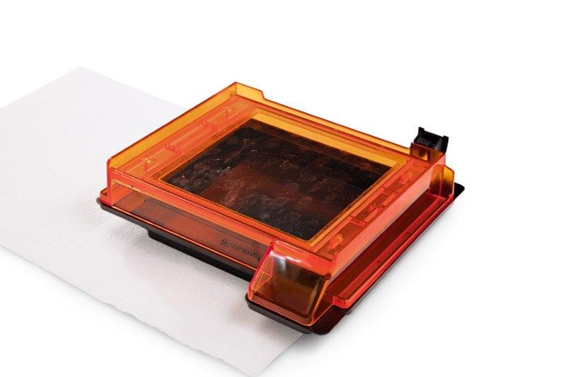 Acrylic Coffee Table Cleaning And Caring Tips Formlabs Standard Resin Tank Emptied And Turned Upside Down To Show The  Clear Acrylic Window With