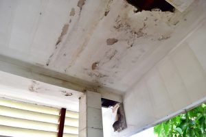 water damage caused by rain