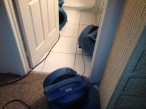 Broken toilet tank causes water damage to home in Naples, FL