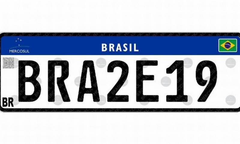 GP - Placa Mercosul será obrigatória a partir de 31 de janeiro
