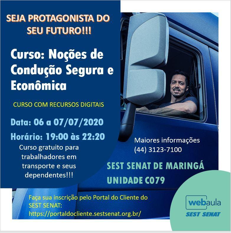 Curso: Noções de Condução Segura e Econômica