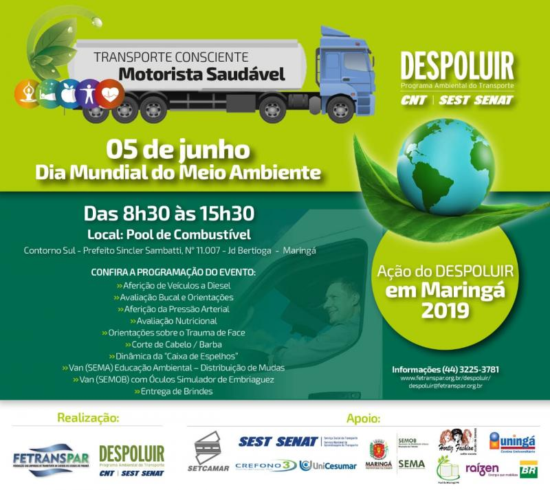DESPOLUIR – Transporte Consciente Motorista Saudável.
