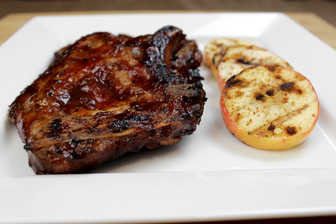 Apple Butta-Q Grilled Pork Chops