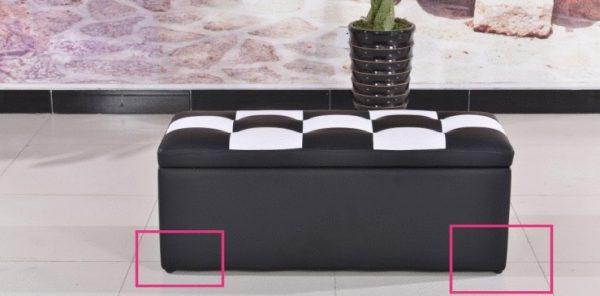 プラスチック黒の家具の脚