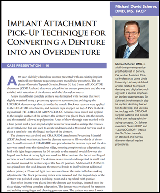 Implant Attachment Pick-Up Technique for Converting a Denture into an Overdenture
