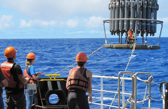 water bottles sampling on SCOPE cruise