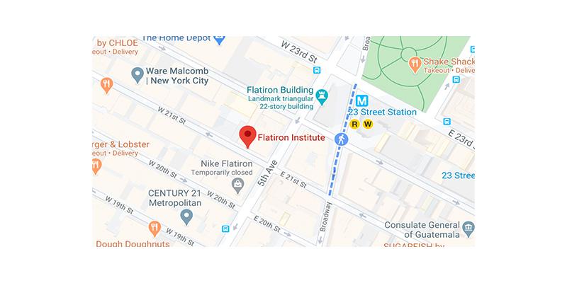 Flatiron Institute, map