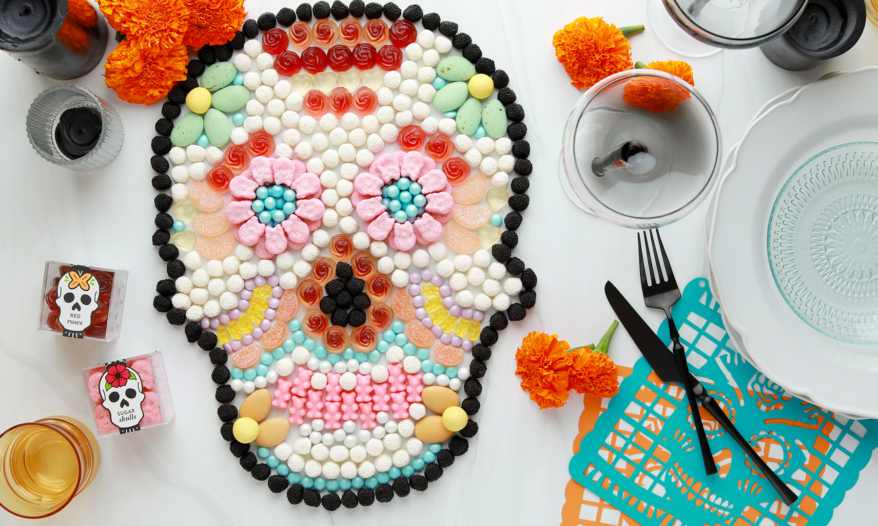 Day of the Dead Candy Charcuterie Board