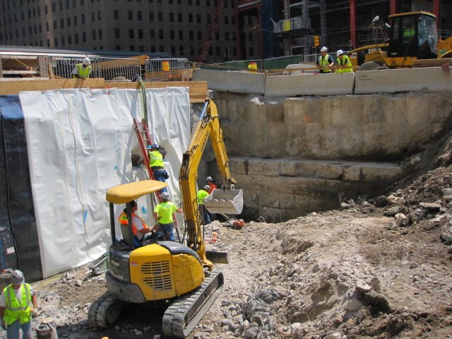 World Trade Center Construction Exposes Historic River Wall
