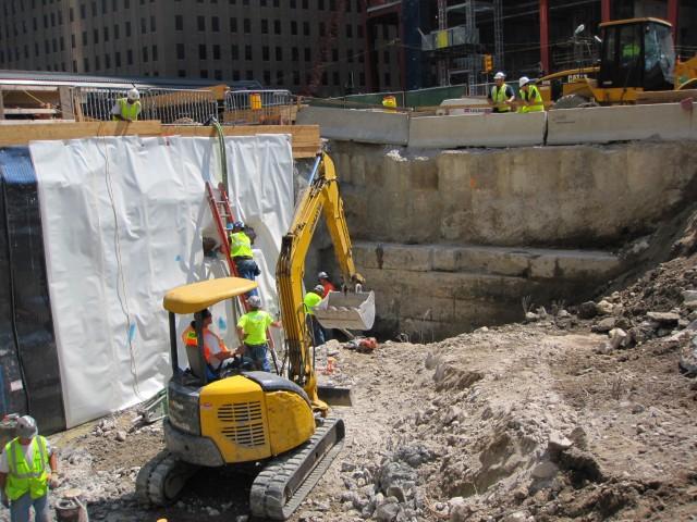 World Trade Center Construction Exposes Historic River Wall