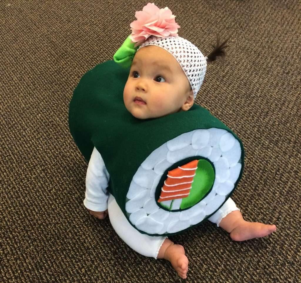 a baby sushi costume sent to the chronicle costume contest photo amy jeschke photo courtesy amy jeschke