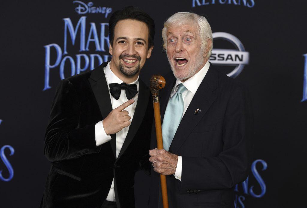 "3ac16c6bae0 Lin-Manuel Miranda (left) and Dick Van Dyke appear in ""Mary Poppins  Returns."" Photo  Chris Pizzello"