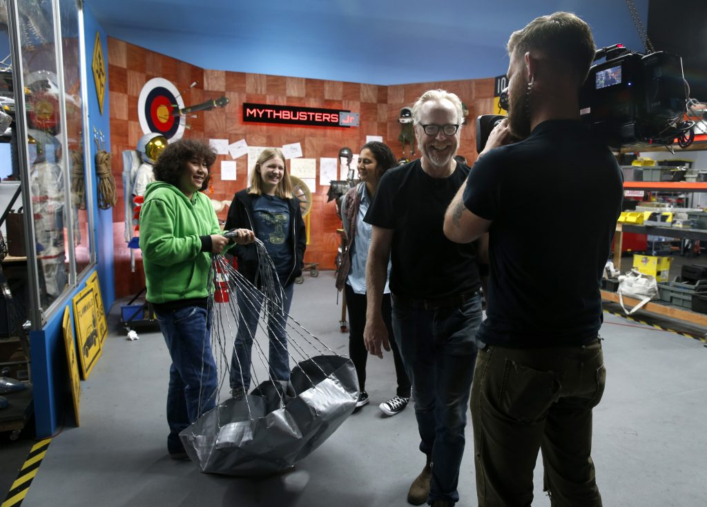 adam savage returns to mythbusters jr where the kids are all