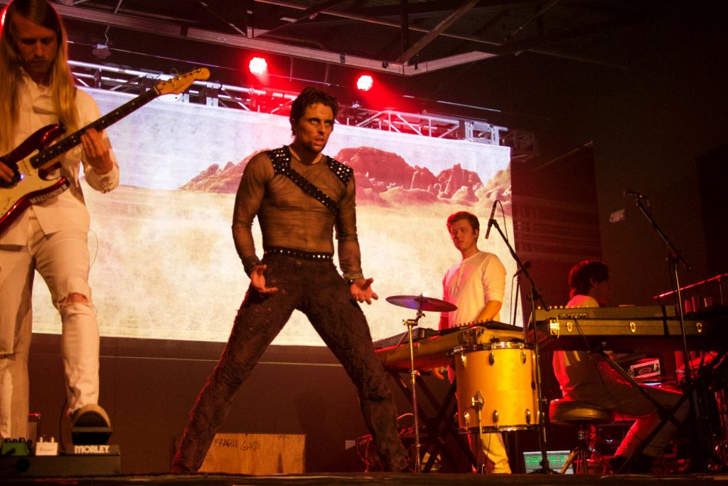 sf ballets luke ingham with the band yassou in the 2018 production of the ballet rock show fury photo austin hobart