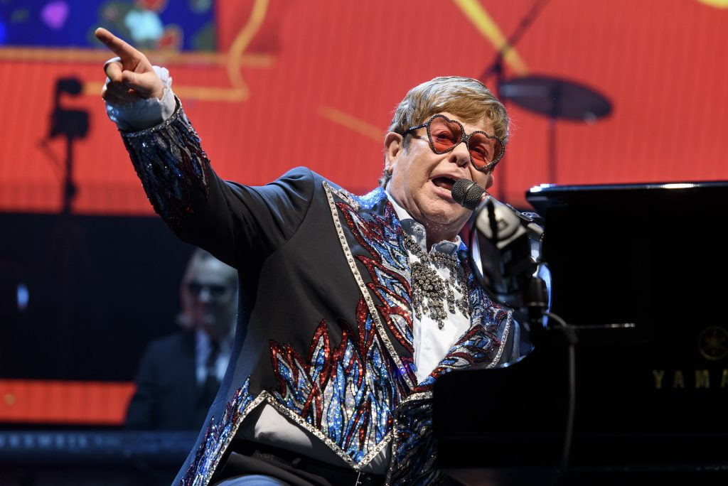 "120ad43e7 Elton John performs during his ""Farewell Yellow Brick Road"" tour at Oracle  Arena in Oakland. Photo: Michael Short, Special to The Chronicle"