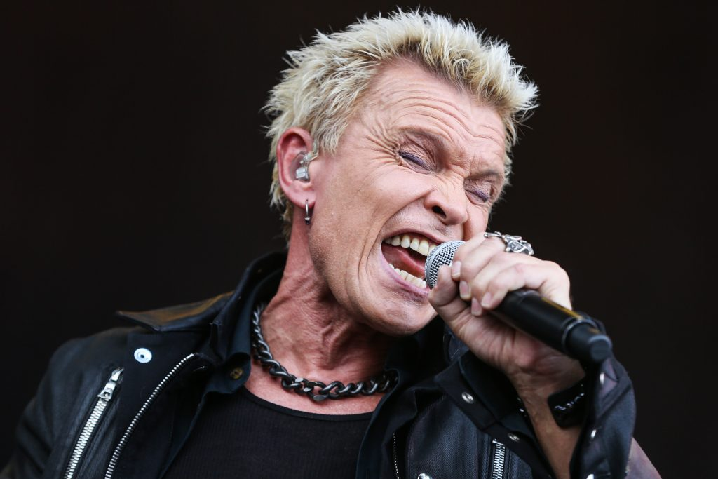 Billy Idol performs at Outside Lands Music Festival at Golden Gate Park in  2015. Photo: Rich Fury, Associated Press 2015