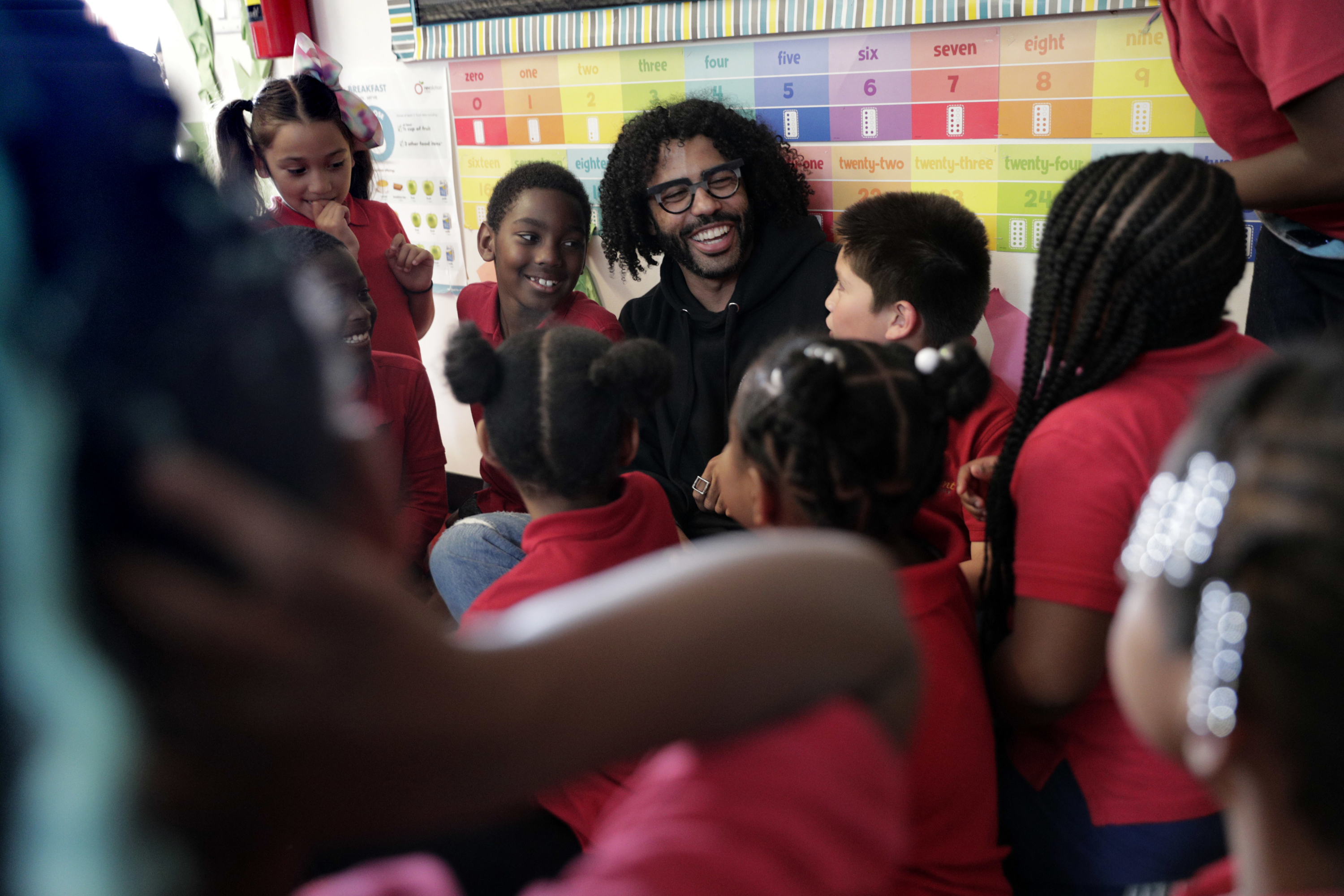 Daveed Diggs comes home to rap with kids at his adopted West