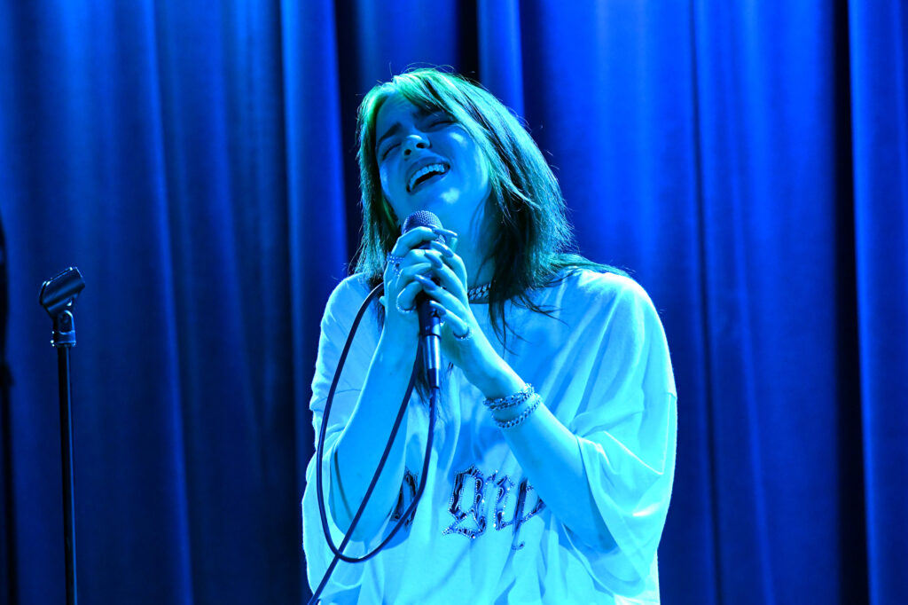 Billie Eilish strips down for Apple Music Awards concert