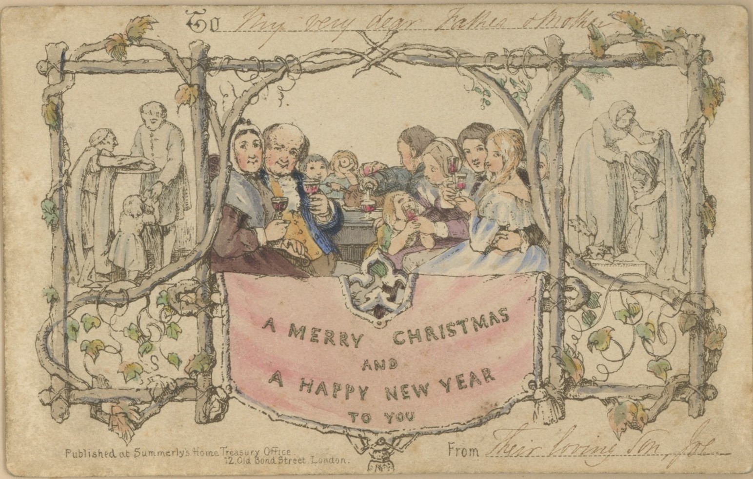 World S Oldest Christmas Card Finds Home In San Francisco Bookstore Datebook