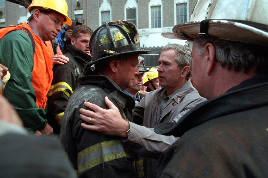 Review: New Apple TV+ 9/11 documentary looks at attacks from President  Bush's point of view | Datebook