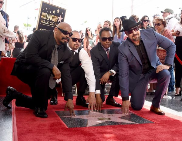HOLLYWOOD, CA - APRIL 18: Lawrence 'DJ Muggs' Muggerud, Louis 'B-Real' Freese, Senen 'Sen Dog' Reyes and Eric 'Bobo' Correa of Cypress Hill pose at their Star on The Hollywood Walk of Fame Ceremony on April 18, 2019 in Hollywood, California. (Photo by Gregg DeGuire/FilmMagic)