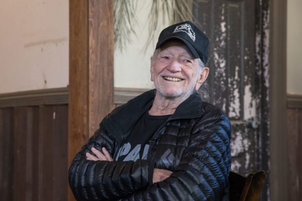 SPICEWOOD, TEXAS - APRIL 13: Willie Nelson discusses his new album 'Ride Me Back Home' during a taping for SiriusXM's Willie's Roadhouse Channel at Luck Ranch on April 13, 2019 in Spicewood, Texas. (Photo by Rick Kern/Getty Images for SiriusXM)