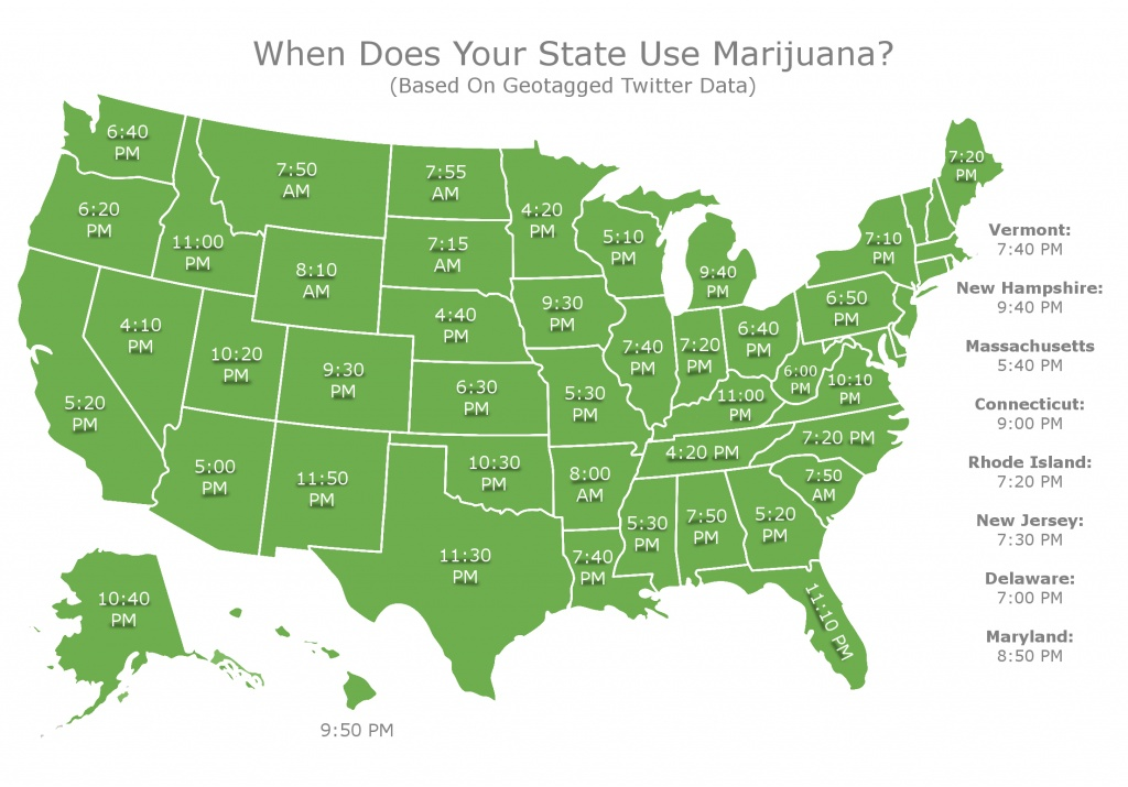 When does your state prefer to smoke? This new marijuana map might surprise you.