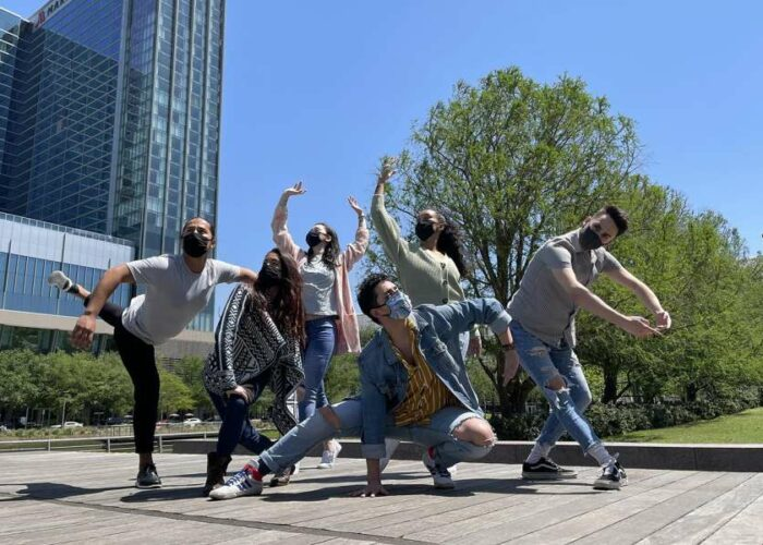 Kinetic Ensemble, Houston Contemporary Dance team for outdoor event