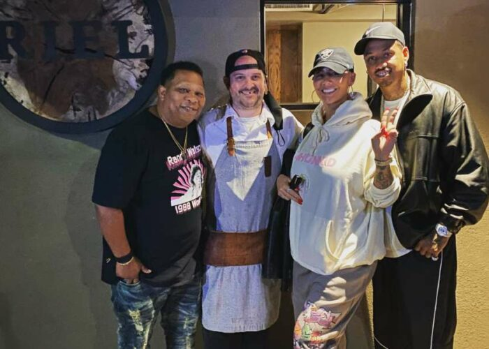 Amber Rose, Mannie Fresh, AE Edwards spotted at Riel Restaurant