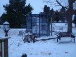 Aviary in snow