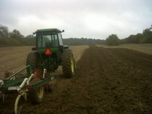 Mike plowing, preparing the fields