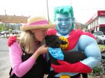 Captain Planet meets Cecil the lamb
