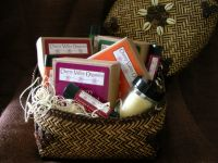 Chocolate-Themed Bath & Body Gift Basket