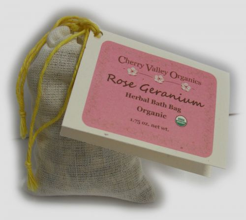 Rose Geranium Bath Bags