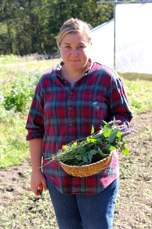 Cherry Valley Organics herb grower, Allie Logue