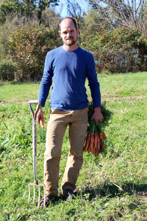 Tim Gebhart, grower at Cherry Valley Organics