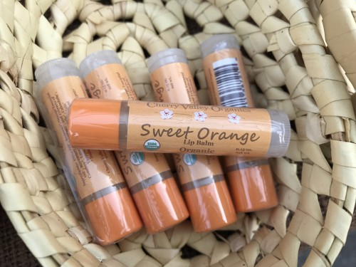 Organic lip balms like ours use essential oils for flavor and scent.