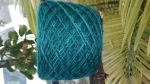 Lace weight teal yarn 100% wool
