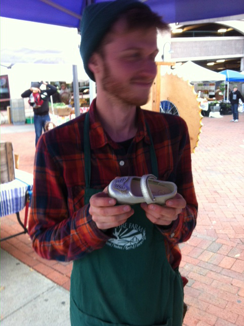 Tuesday Market's Own Prince Charming -- the shoe was recovered