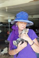 Margaret with kitten