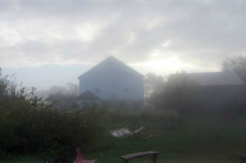 barn in cloud