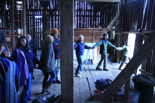 dancing in the barn at may day