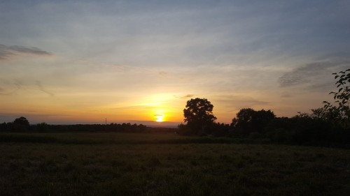 sunset at solstice