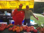 August 2017. Annual Tomato Tasting at Howe Meadow with Tom Tomato