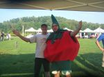 With Tom Tomato at TomatoFest, 8.24.14