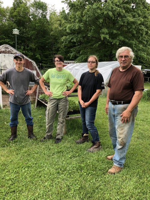 May 2019: Interns (left to right) Dalton Workman, Karisa Wild, Stephanie Streen (with Stephanie's mentor Alex Dragovich)