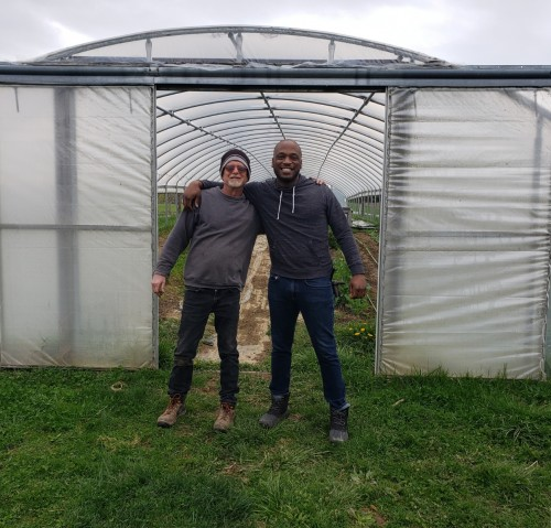 April 2019: Walt Bonham came out to see the farm while working on the Mansfield Urban Farm project