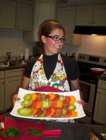 heirloom tomato salad at SBNF Summer Cooking Demo