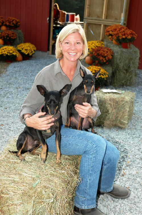 Patti with Lucky and Emma
